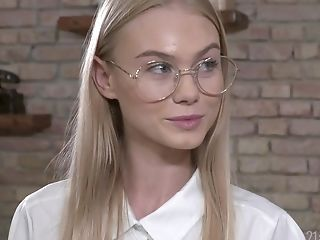 Blonde Petite Nerdy Nubile Nancy Ace Gulps An Older Boy's Jizz