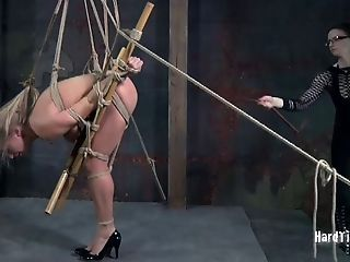 Hot Bum Blonde Claire Adams Tied Up And Tantalized By Dirty Dia Zerva
