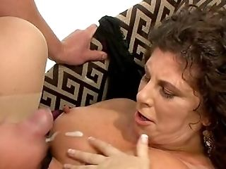 Buxom Auntie Soaks The Big Dick In Both Her Fat Crevasses