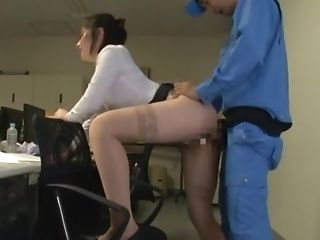 Japanese Assistant Fucked From Behind And Jizzed On Face