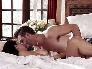 Dark-haired Wakes Up Her Man With A Dirty Blow-job