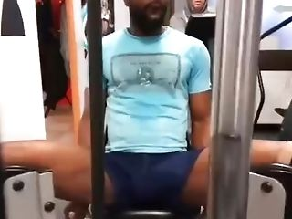 Dick Out In Gym