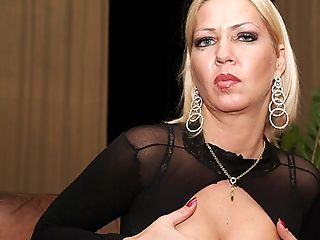 Horny Cougar Playing With Herself