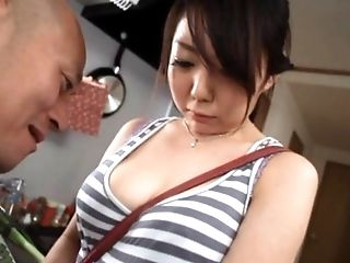 Modest Looking Asian Chick Gets Her Tits Toyed Around Then Fucked Outdoors