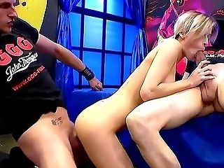Crazy Scenes Of German Gonzo For Two Gorgeous Teenagers