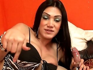 Dirty Big Tits Shemale Fellates His Dick And Get Hers Gulped