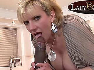 Mommy Lady Sonia Gets A Throatful Of Big Black Masculine Stick