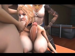 3 Dimensional Futa, Hermaphroditism Group Sex Orgy