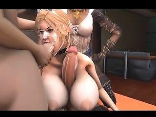 3 Dimensional Futa, Hermaphroditism Group Sex Orgy
