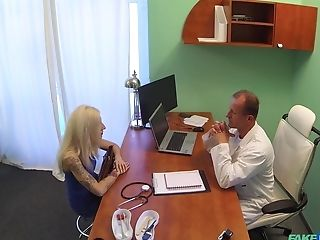 Blonde Lady Fucks With Her Fabulous Doc During The Visit