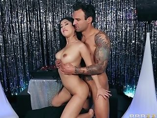 Asian Big-titted Beauty Jade Kush Gets Jizz On Her Oily Tits