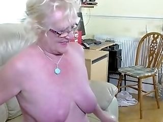 Granny In Big Undies Gulps A Youthfull Dick