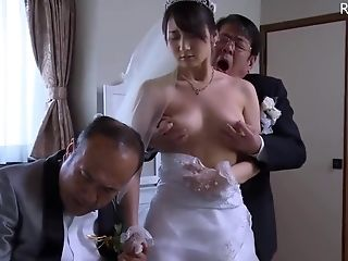 Japanese Wifey Get Stripped Clothes By Chief In Front Of Her Hubby