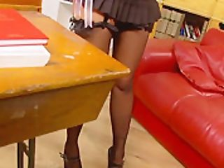 Big Tits Honey Romana Ryder Rails A Big Hard-on In The Library