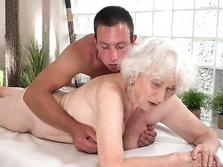 Abominable Awful Puckered Oldie Norma Gets Fucked From Behind Fairly Hard