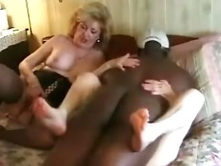 Crimson And Light-haired Haired Nymphomaniacs Share One Strong Big Black Cock For A Good Dt