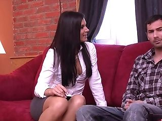 Lengthy Gams Black-haired India Summer Gives Amazing Dt And Rails A Dick