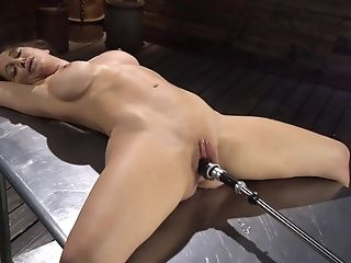 Pervy Master Is Testing Some Intercourse Implements On Tied Up Chick