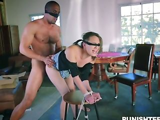 Eyes Covered Sexy Mummy With Nice Rack Gets Pounded Hard By Dude In Pantyhose