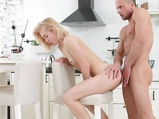 Sexy Youthful Doll Dicks Around In The Kitchen