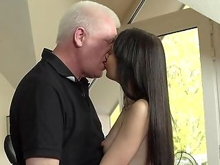 Sexy Youthful Honey Completes Up Getting Laid With Her Grandfather