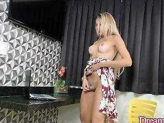 Beautiful Tgirl Bella Atrix Wanks Her Hard Pecker In Front Of A Webcam