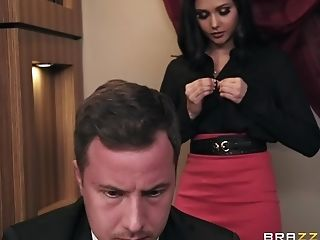 Slender Brown-haired Nubile Ariana Marie Pounded And Gets A Facial Cumshot In Office