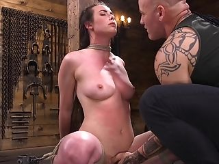 Suspended Submissive Deep Mouth Made Love