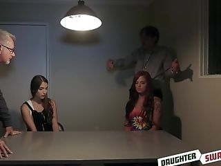 Izzy Lush And Scarlett Mae Pounded At The Police Station