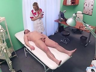 Sexy Medical Polyclinic Employee Tempts The It Boy In The Check-up Room