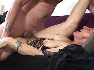 Tattooed Dude Ultimately Gets To Fuck Nina Swiss While Her Tits Bounce