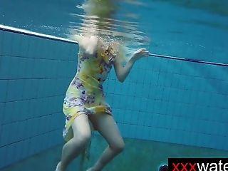 Unexperienced Blonde Mermaid