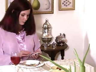 Youthfull Tgirl Rimmed By Matures Chesty Lesbo