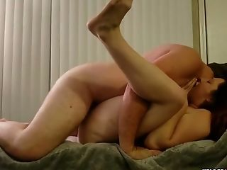 Fucking My Wifey On The Couch With Her Gams In The Air