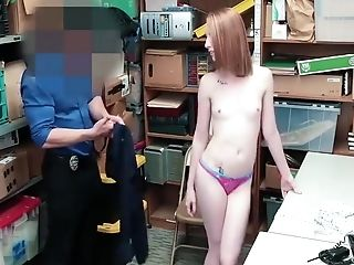 Shoplyfter - Lp Officer Fucks Shoplifting Ginger Teenager