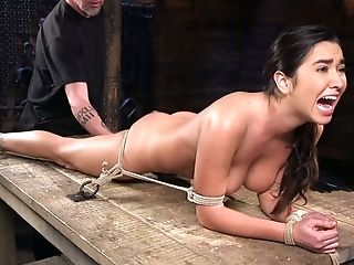 Tying Bitch Karlee Grey Squirts In The Dark Sadism & Masochism Room