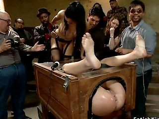 Beauty Bitch Group Fucking Tortured In Public