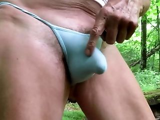 Panty Bitch Plays With Hi Submissive Bulge.