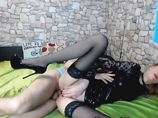 Stunning Hot Honey With His Counterpart On Her Side Shows Her Tits And Twat