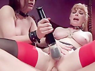Fierce Bondage & Discipline Duo Catch An Anal Invasion All Girl