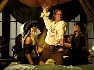 Matures Pirate Still Able To Sate Two Smoking-hot Blondes