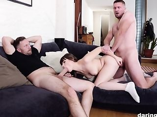 Sweetie Sure Loves The Experiencing Of Two Dicks Gasping Her