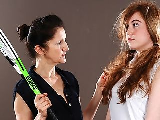 Hot Stunner Must Listen To Her Sapphic Tennis Tutor